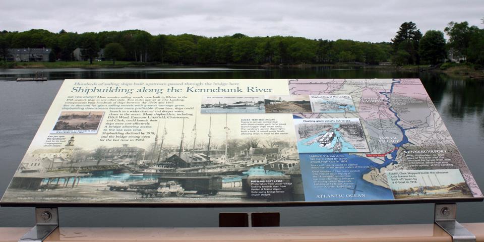 Shipbuilding along the Kennebunk River, Kennebunkport, Maine