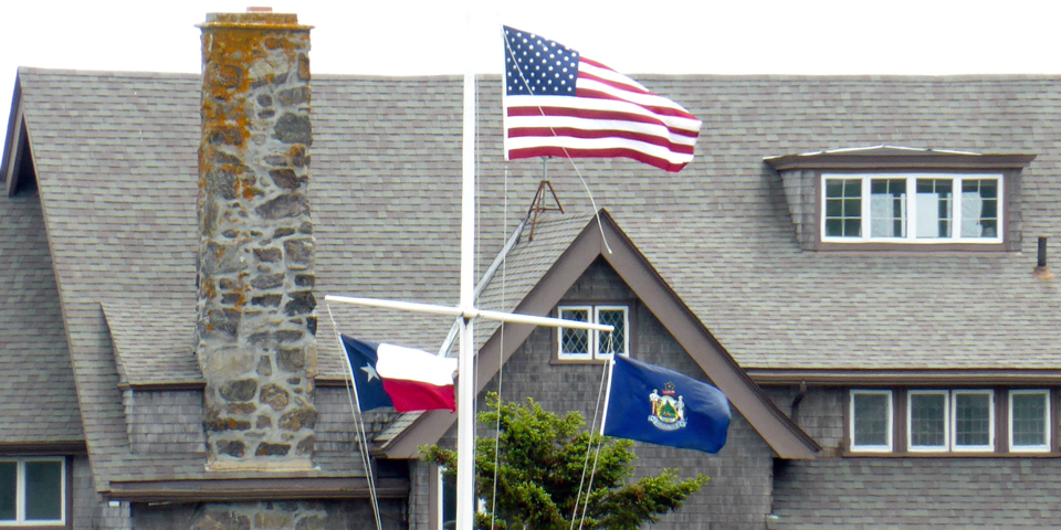 flags, Walker's Point, Kennebunkport, Maine