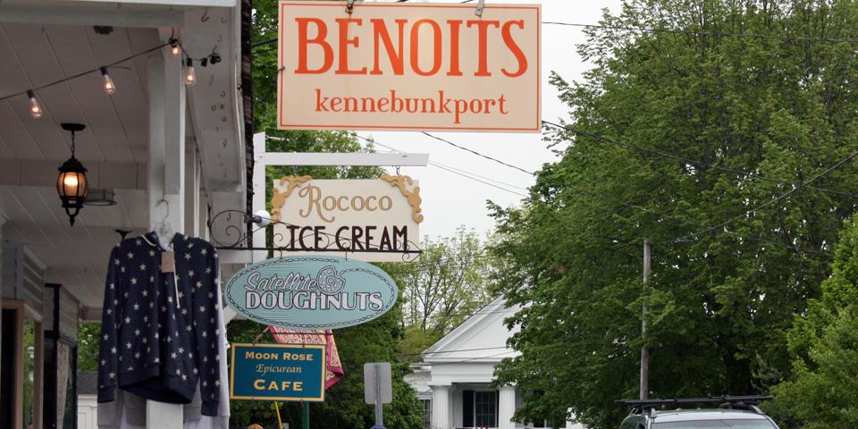 shop signs, Kennebunkport, Maine