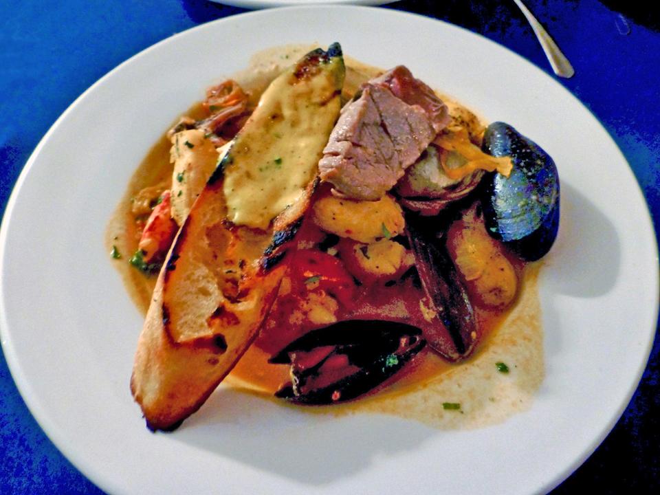 Bouillabaisse, Diamond's Edge Restaurant & Marina