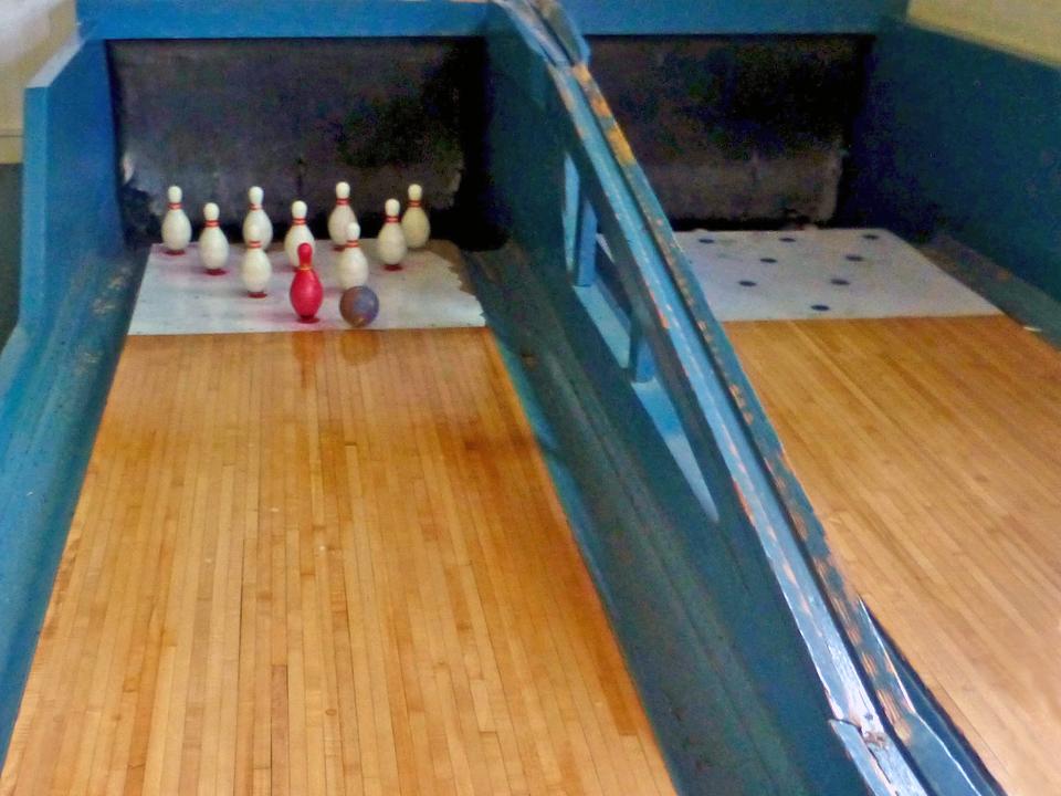 bowling, Inn at Diamond Cove, Great Diamond Island, Portland, Maine