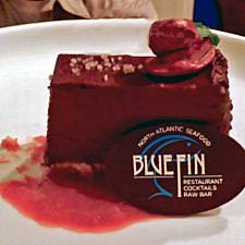 chocolate dessert, BlueFin North Atlantic Seafood Restaurant, Portland Harbor Hotel