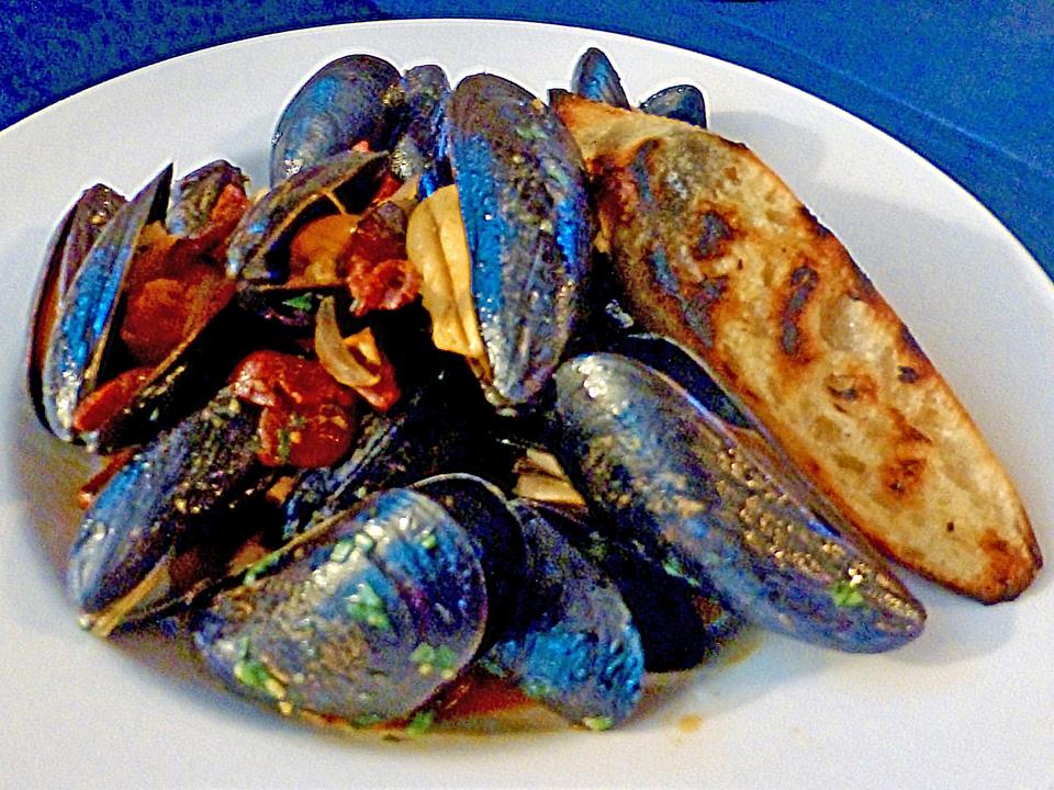 Bangs Island mussels,grown in Casco Bay, Maine