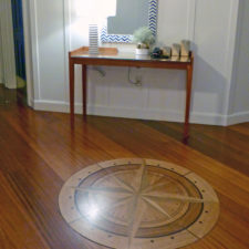 detail of the wood flooring, Portland Harbor Hotel, Portland, Maine