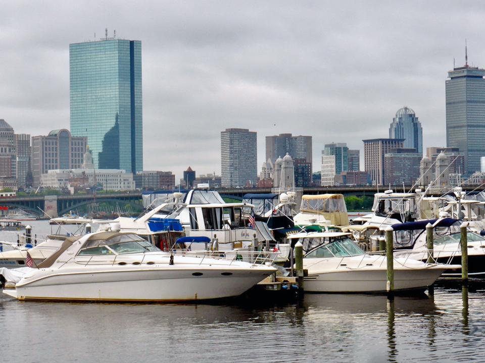 Boston skyline view from Royal Sonesta Boston, Massachusetts