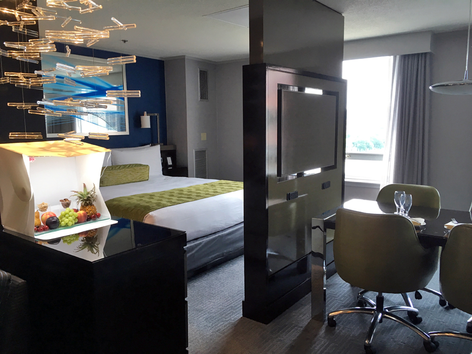 Royal Sonesta Hotel guest room, Cambridge, Massachusetts