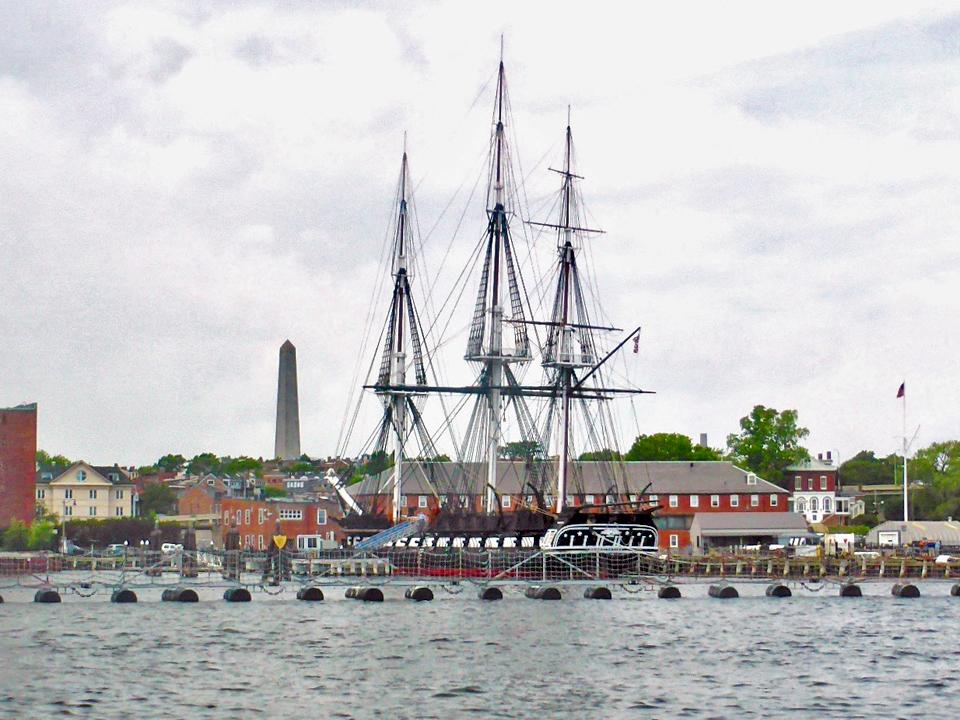 U.S.S. Constitution and Bunker Hill Monument, Boston, Massachusetts