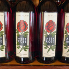 Abby Rose wine, named for the winemaker's oldest daughter, Lakewood Vineyards, Watkins Glen, NY