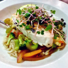 Chilean Sea Bass with Thai noodles, Watkins Glen Harbor Hotel, NY