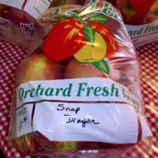 Snap Dragon apples, developed at Cornell University and avail;ab;e only at select locations in NY, Reisinger's, Watkins Glen, NY