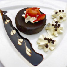 flourless chocolate cake, 1000 Islands Harbor Hotel, Clayton, NY