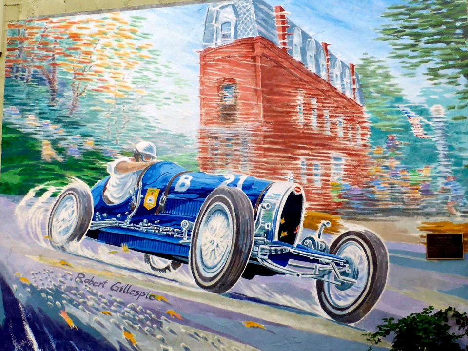 mural, Watkins Glen, NY