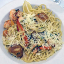 Seafood Scampi, The Blue Point Grille, Watkins Glen Harbor Hotel