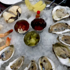 Chilled Seafood Platter with oysters, cocktail shrimp, and crab claws, Forge & Vine, Groton Inn, Groton, Massachusetts