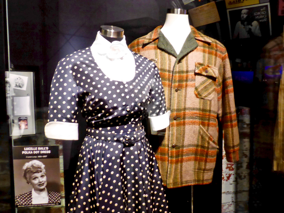 Lucy's polka dot dress and Archie Bunker's jacket, National Comedy Center, Jamestown, New York