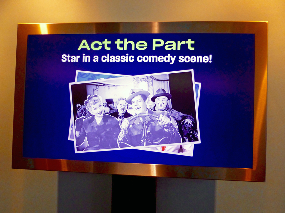 interactive comedy scene, National Comedy Center. Jamestown, New York