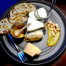 New England Cheese Plate with local honey, apricot jam and spiced nuts, Forge & Vine, Groton Inn, Groton, Massachusetts
