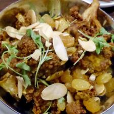 Roasted Cauliflower with Marcona almonds and raisins, Forge & Vine, Groton Inn, Groton, Massachusetts