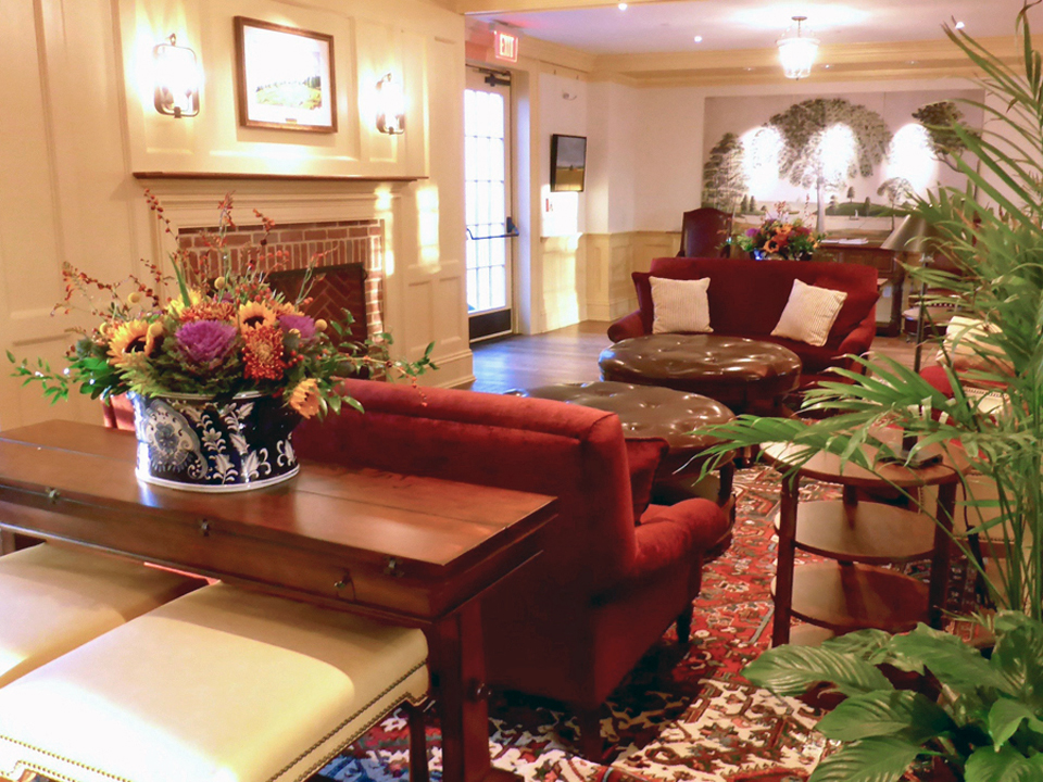 lobby area of the Groton Inn, Groton, Massachusetts