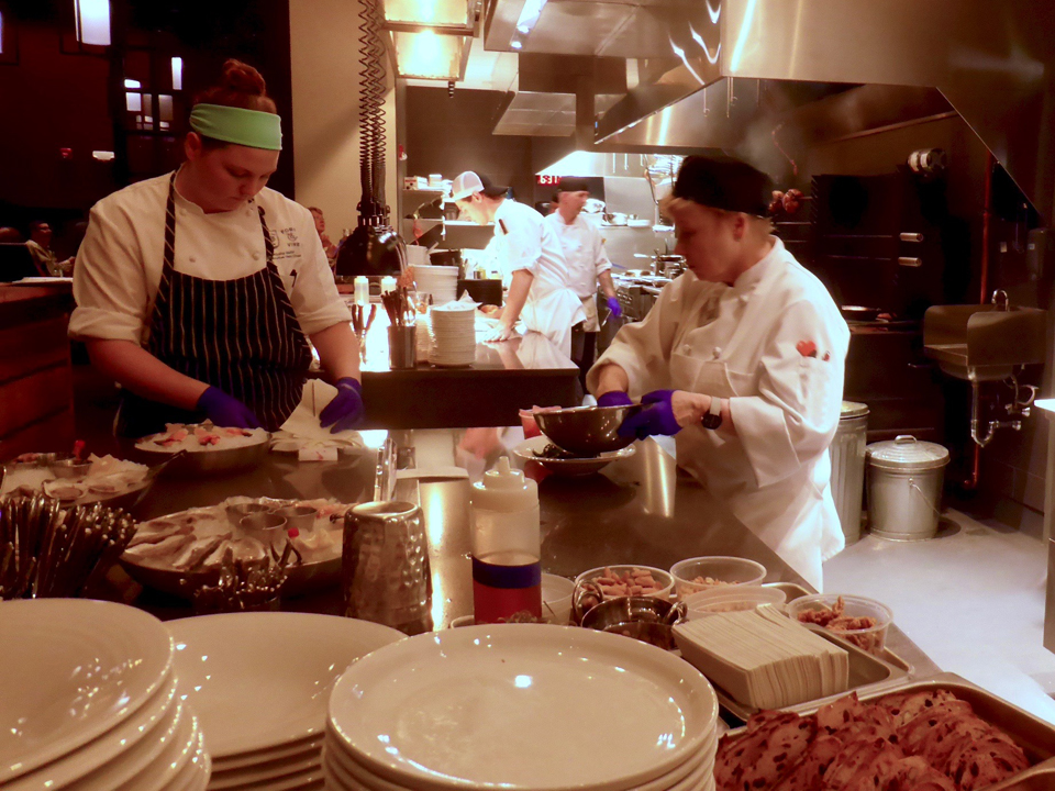 pastry chefs at work, Groton Inn, Groton, Massachusetts