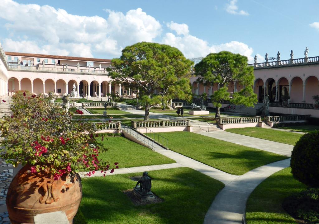 John and Mable Ringing Museumof Art courtyard, Sarasota, Florida