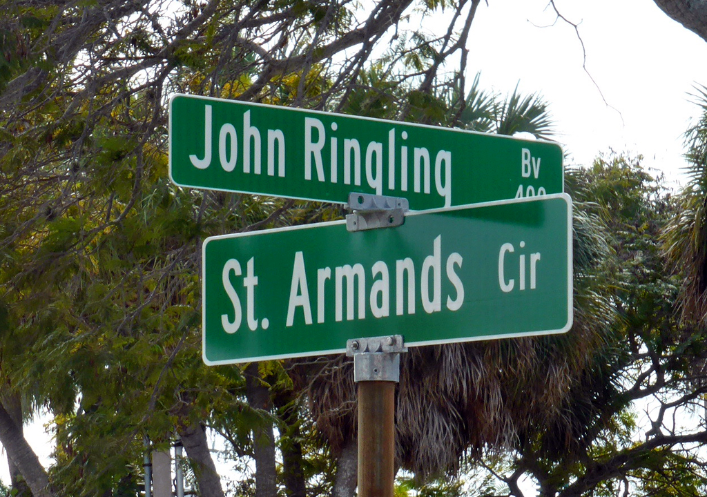 Ringling Bv sign, Sarasota, Florida