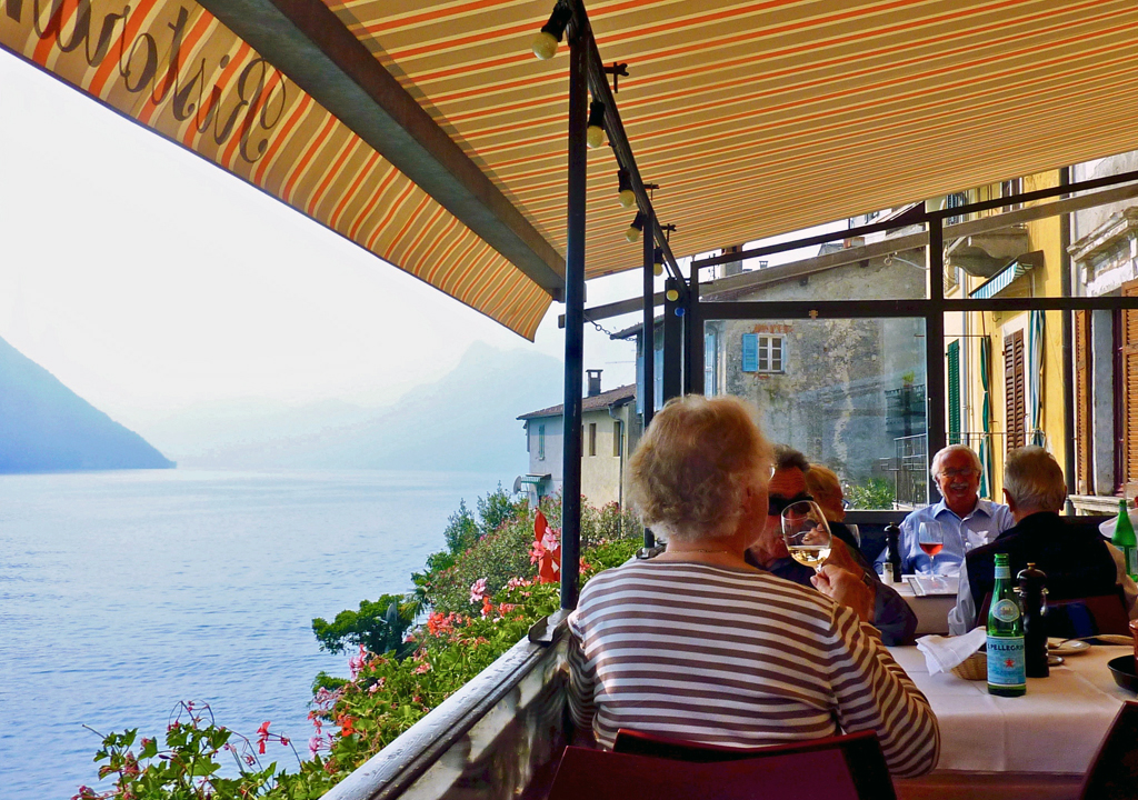 Gandria restaurant, Switzerland