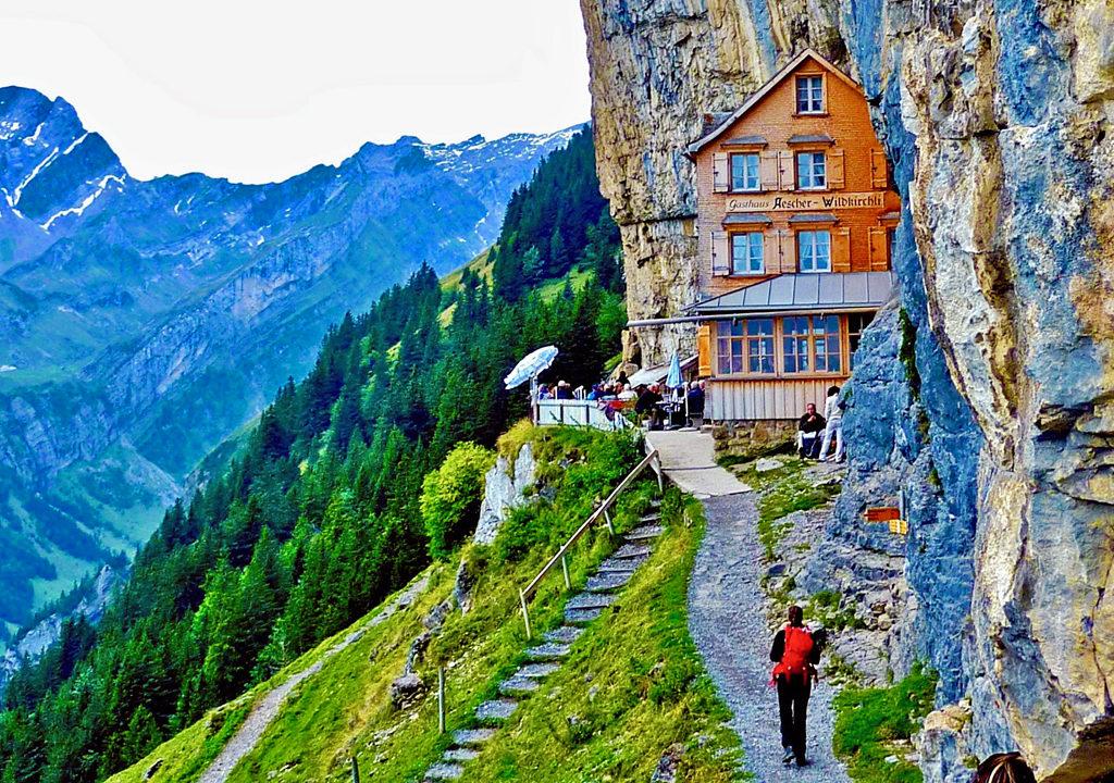 Gasthaus Aescher, Ebenalp, Switzerland