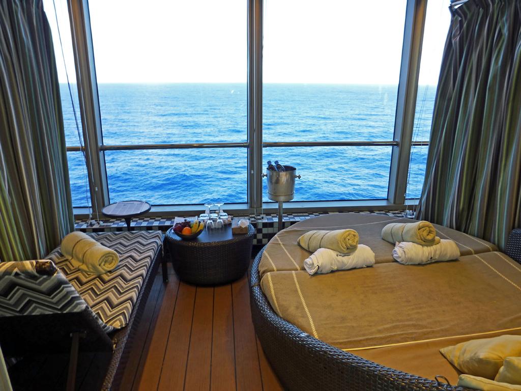 private cabana aboard the Euurodam