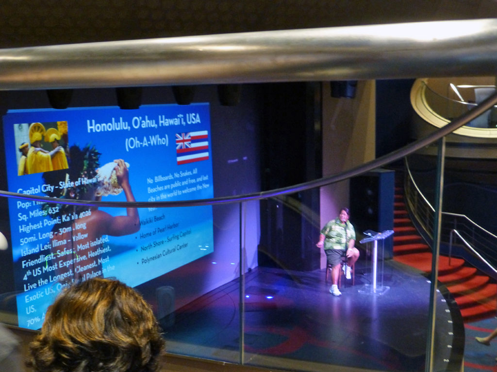 Exploration Central talk on Honolulu, Eurodam.