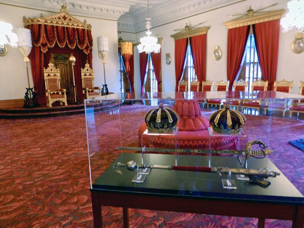 throne room, Iolani Palace, Honolulu, Hawaii