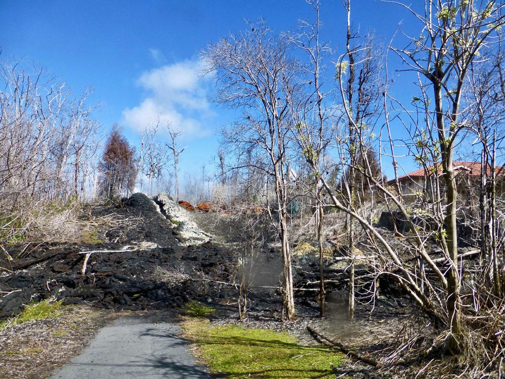Leilani Estates, Hilo, Hawaii after Mount Kilauea eruption