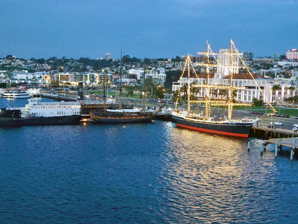 Ships of the Maritime Museum, just before Sailaway, San Diego