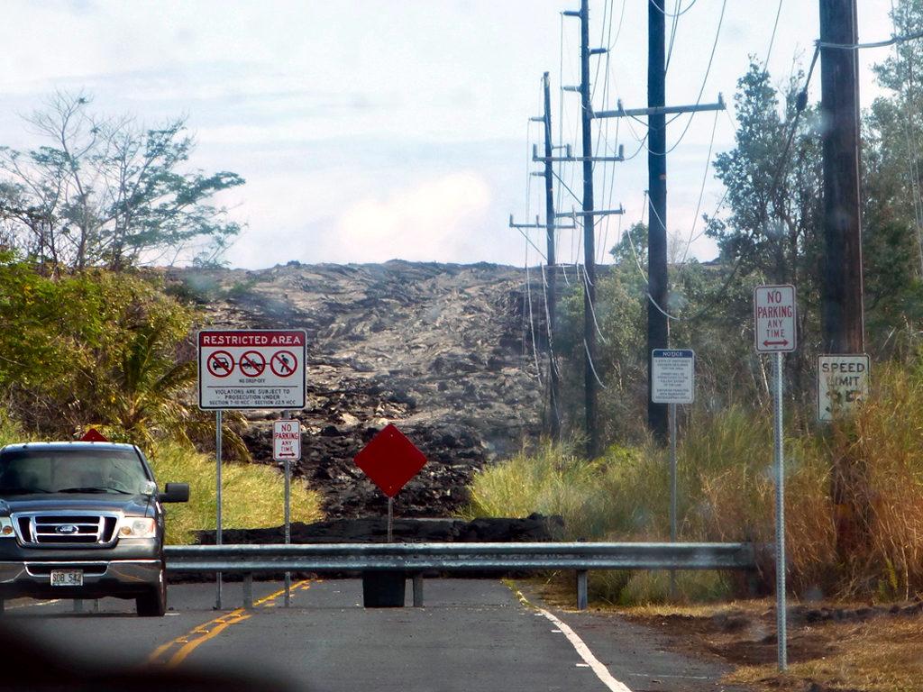 Kilauea Volcano lava, Hilo, Hawaii