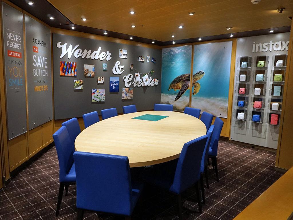 Creative area in Photo Gallery, Eurodam