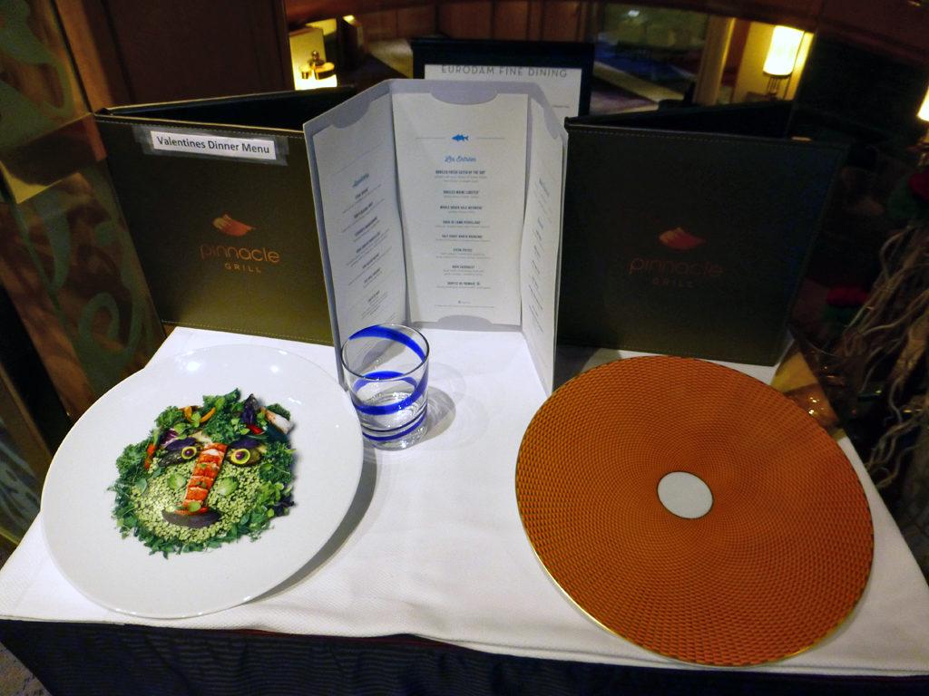 Pinnacle Grill menu, Eurodam