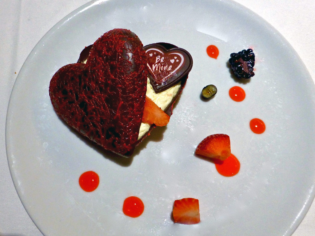 Chocolate Valentine's Day dessert, Eurodam