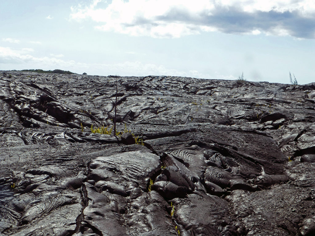 lava field from 2018 eruption of Mount Kilauea, Hilo, Hawaii