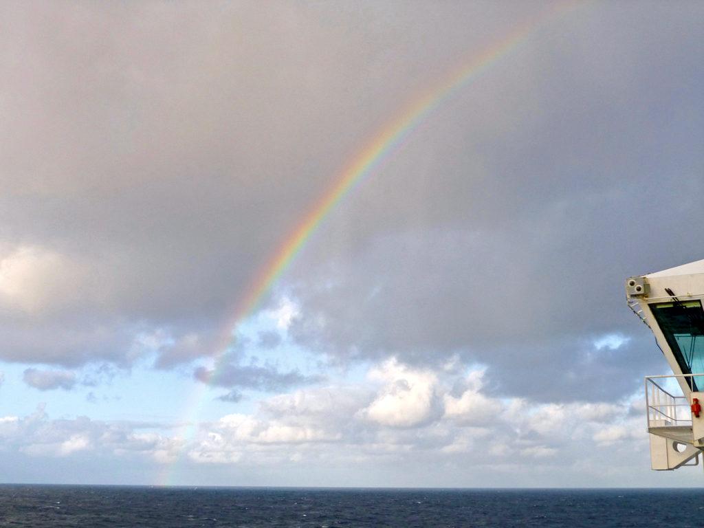 rainbow at sea, Eurodam