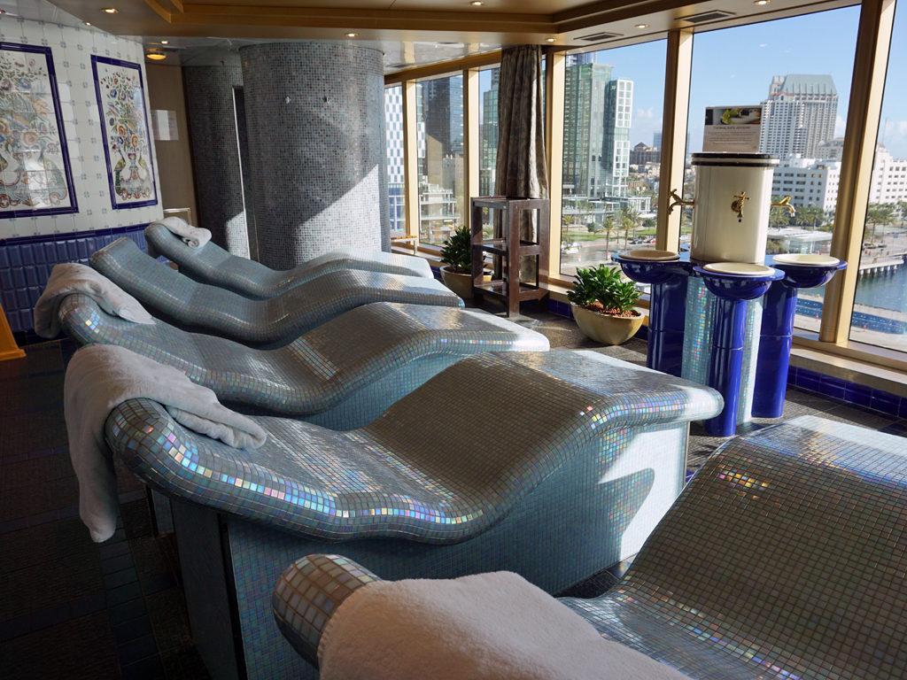 Thermal Spa heated loungers, Eurodam