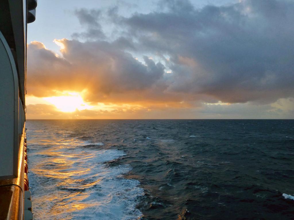 sunset from the Eurodam
