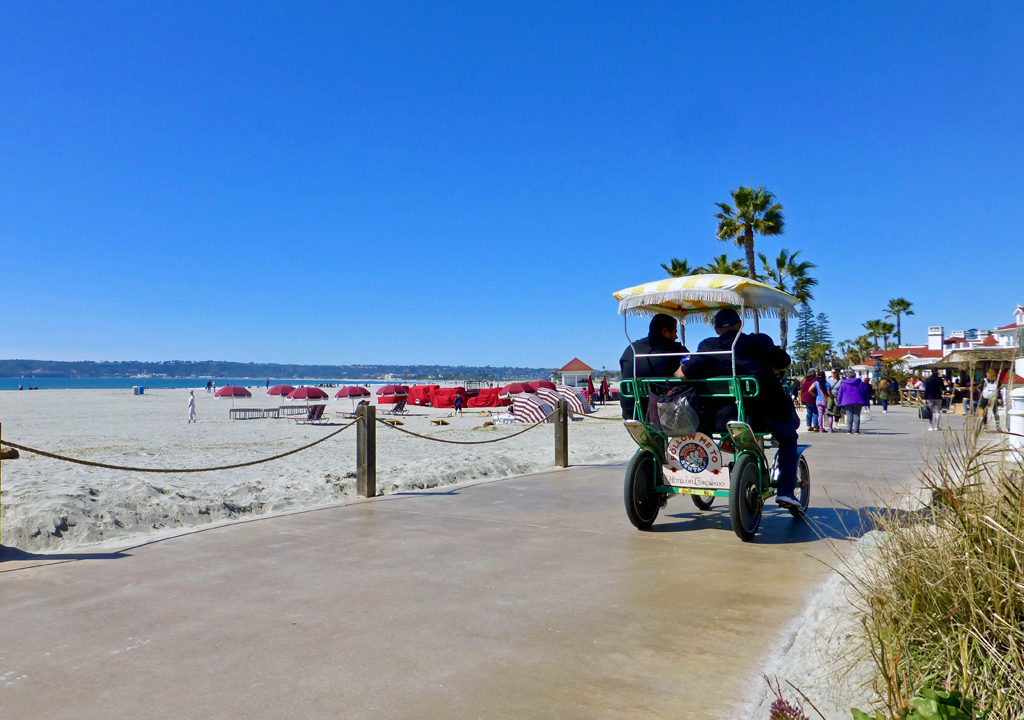 Coronado Beach walkway, San Diego, California