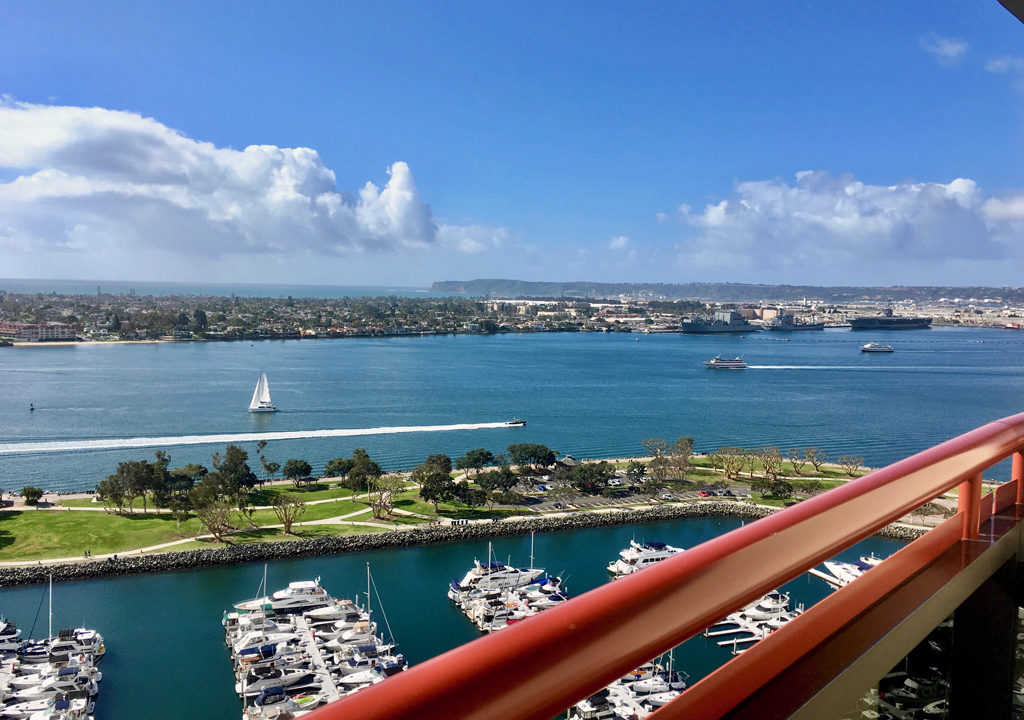 view from balcony, Marriott Marquis San Diego Marina