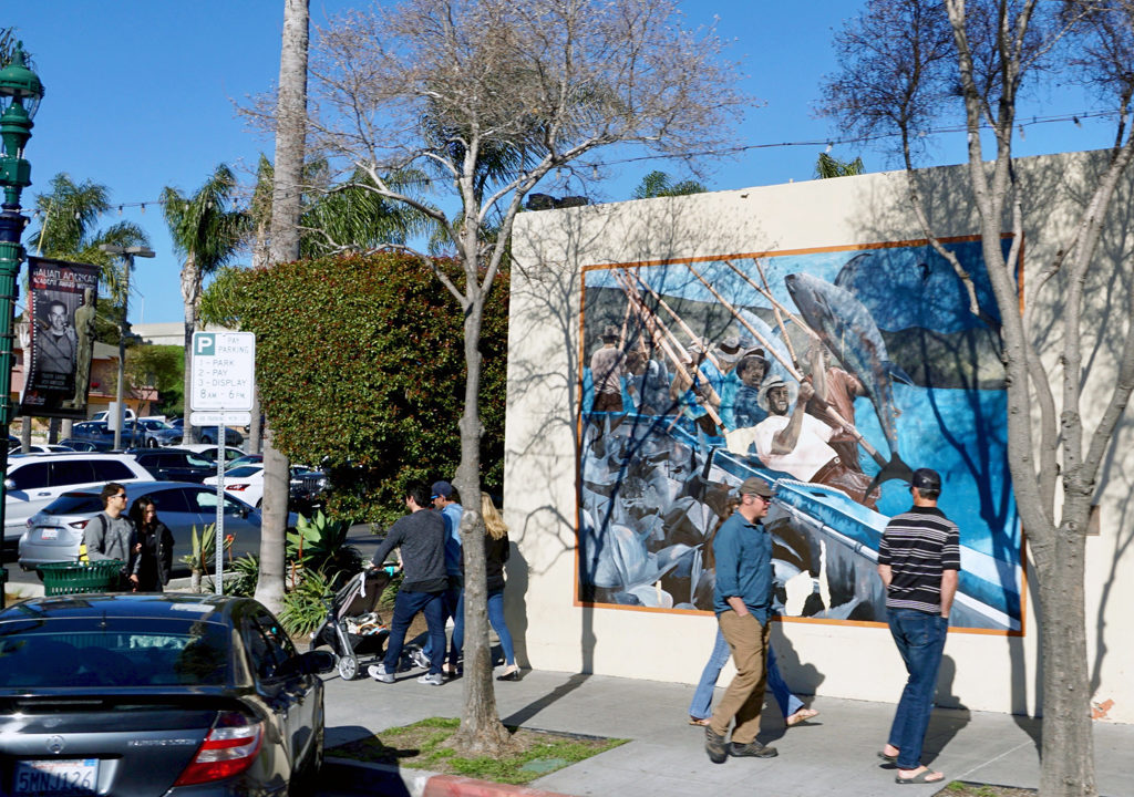 tuna fishing mural, Little Italy, San Diego, California