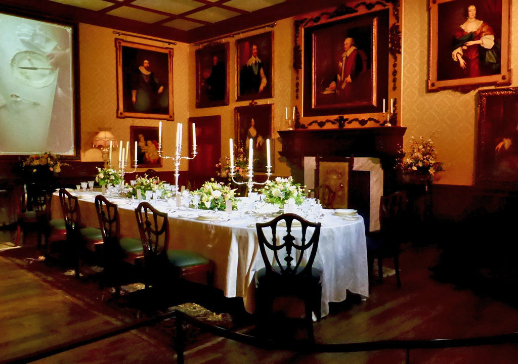 dining room, Downton Abbey- The Exhibition, The Castle at Park Plaza, Boston