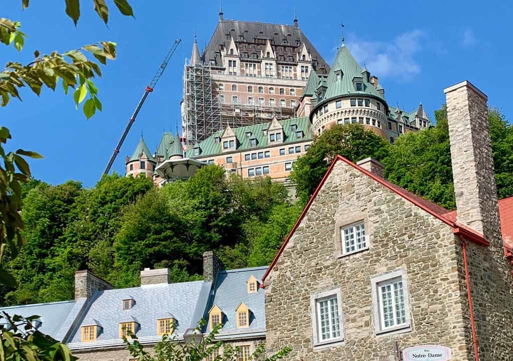 The Chateau Frontenac towers above Quebec City's Lower Town