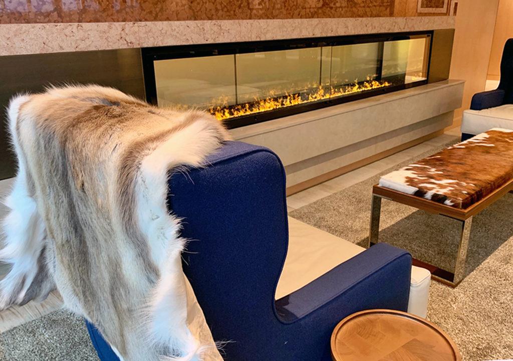 Explorers' Lounge fireplace area, Viking Jupiter