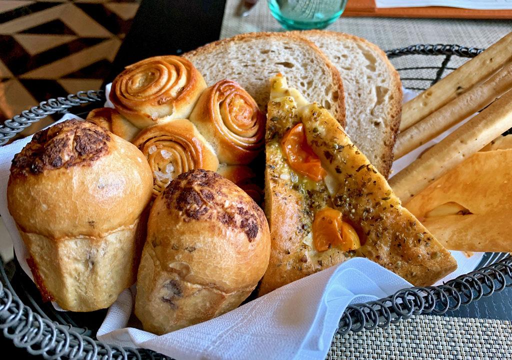 bread basket at Manfredi's, Viking Jupiter