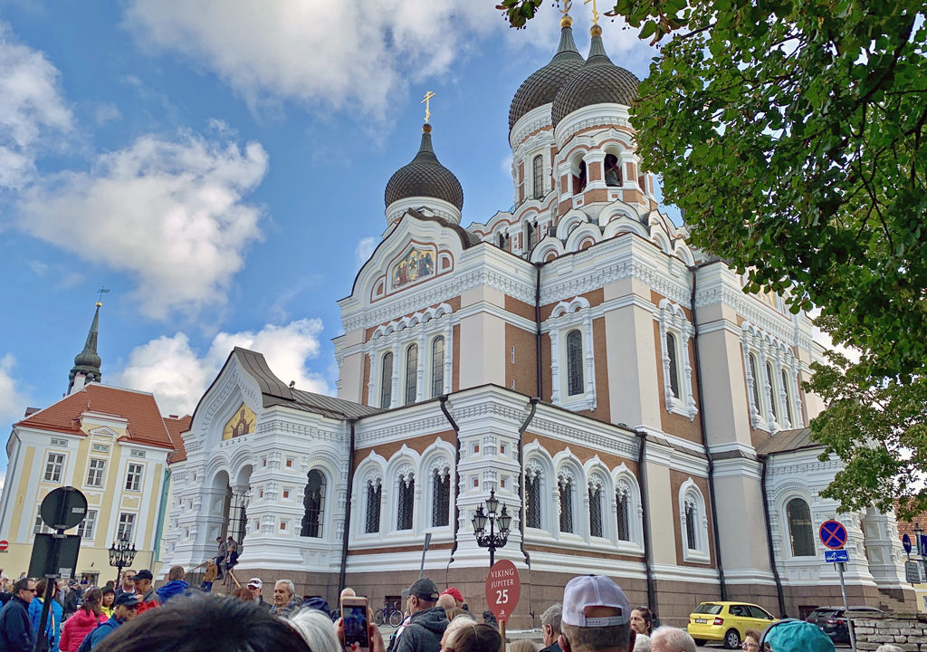 The onion-domed Russian Orthodox Church of Alexander Nevsky Cathedral, Tallinn, Estonia