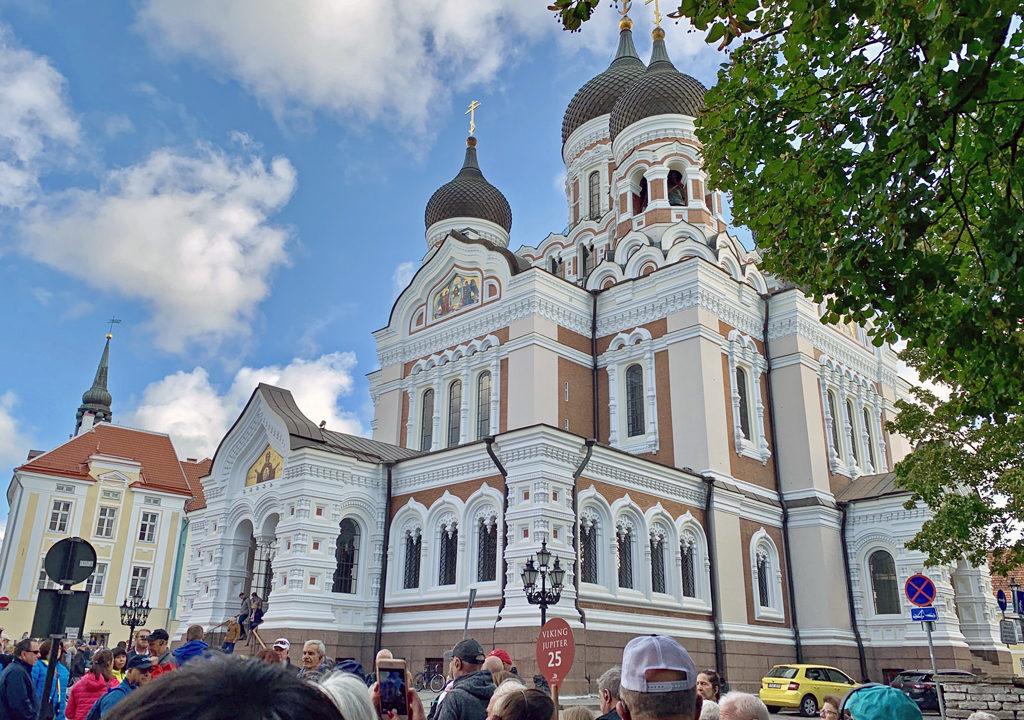 The onion-domed Russian Orthodox Church of Alexander Nevsky Cathedral, Tallinn, Estonia